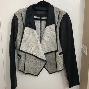 BLANKNYC Black vegan leather with wool drape
